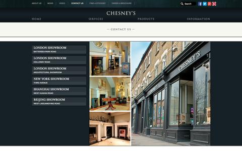 Screenshot of Contact Page chesneys.co.uk - Contact Us | Chesney's - captured Sept. 24, 2014