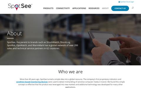 Screenshot of About Page spotsee.io - About SpotSee and Company Leadership - captured July 6, 2019