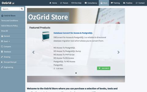 Screenshot of Products Page ozgrid.com - OzGrid Store - captured Sept. 21, 2018
