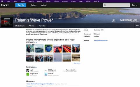 Screenshot of Flickr Page flickr.com - Flickr: Pelamis Wave Power - captured Oct. 22, 2014