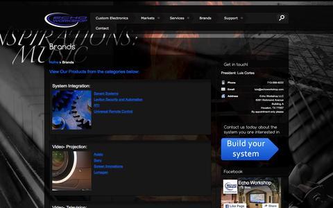 Screenshot of Products Page echoworkshop.com - Brands - - captured July 11, 2016