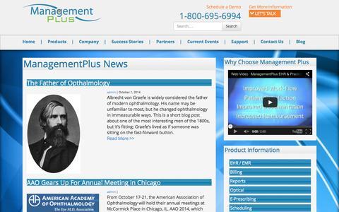 Screenshot of Blog managementplus.com - Blog – ManagementPlus - captured Oct. 29, 2014