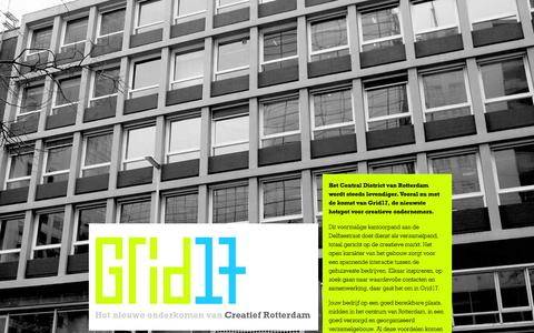 Screenshot of Home Page grid17.nl - Grid17 - Het nieuwe onderkomen van Creatief Rotterdam - Home - captured Sept. 30, 2014