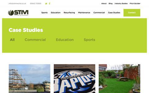 Screenshot of Case Studies Page stmworld.co.uk - STM World · Case Studies - captured Oct. 24, 2017