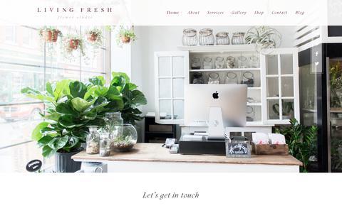 Screenshot of Contact Page livingfresh.ca - Contact   Living Fresh - captured Aug. 20, 2017