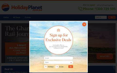 Screenshot of Home Page holidayplanet.com.au - Holiday Planet Australia   Local Travel Agency   Home Page - captured July 20, 2018