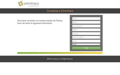 Screenshot of Landing Page omnitracs.com - Contact Omnitracs Mexico - captured March 18, 2016