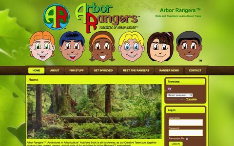 Screenshot of Home Page arborrangers.com - Home | Arbor Rangers™ - captured Oct. 4, 2014