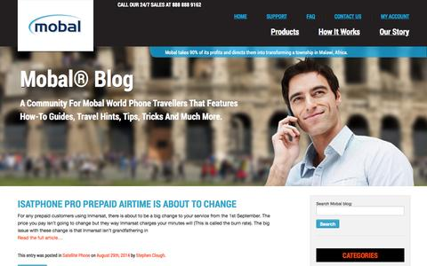 Screenshot of Blog mobal.com - International Cell Phone Blog by Mobal - captured Sept. 23, 2014