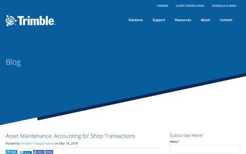 Screenshot of Blog trimble.com - Blog - captured March 18, 2019