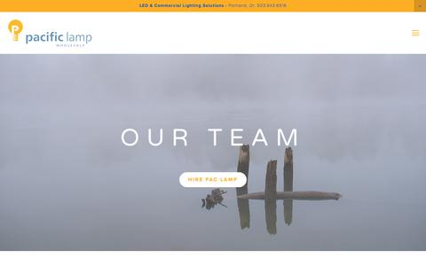Screenshot of Team Page paclamp.com - Team — Pacific Lamp Wholesale - Quality LED light bulbs and Lighting - captured July 11, 2017