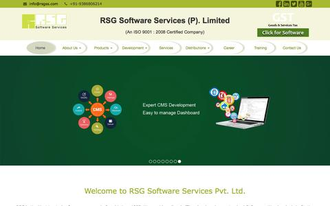 Screenshot of Home Page rsgss.com - RSG Best Software | website | Training company in Ranchi | jharkhand | india - captured Oct. 23, 2017