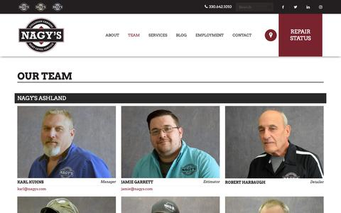 Screenshot of Team Page nagys.com - Our Team | Nagy's Collision Centers - captured Oct. 18, 2018