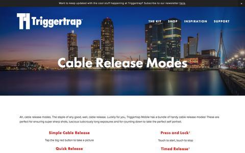 Screenshot of triggertrap.com - Cable Release Modes | Triggertrap - captured March 20, 2016