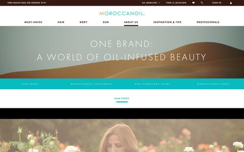 Screenshot of About Page moroccanoil.com - Behind the Brand | Moroccanoil - captured Aug. 31, 2016