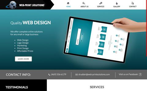 Screenshot of Home Page web-printsolutions.com - Web-Print Solutions - Home - captured Oct. 5, 2019