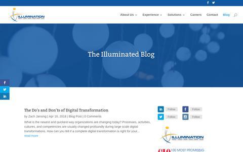 Screenshot of Blog illuminationworksllc.com - Blog | Illumination Works LLC - captured Oct. 11, 2018