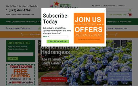 Screenshot of Home Page greatgardenplants.com - Great Garden Plants: Plant Nursery for Home Gardeners - captured July 17, 2017