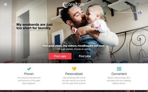 Care.com: Find Child Care, Senior Care and Pet Care and More