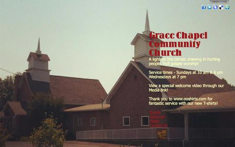 Screenshot of Home Page gracechapel.us - Grace Chapel Community Church - captured Oct. 3, 2014