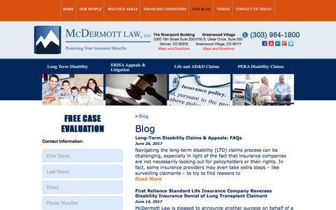 Screenshot of Blog colorado-disability-lawyer.com - Denver Disability Law - Blog - captured Oct. 18, 2017