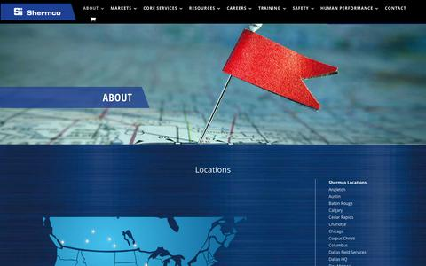 Screenshot of Locations Page shermco.com - Locations - Shermco industries - captured Nov. 9, 2019