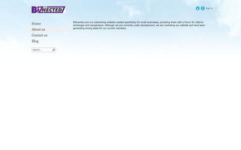 Screenshot of About Page biznected.com - About us - captured Oct. 5, 2014