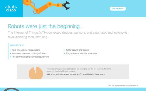 Screenshot of Landing Page cisco.com - Revolutionize Industrial Networking - captured Nov. 27, 2017