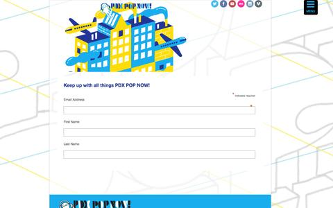 Screenshot of Signup Page pdxpopnow.com - sign-up   PDX Pop Now! - captured Oct. 22, 2014