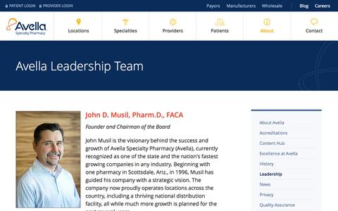 Screenshot of Team Page avella.com - Avella Leadership Team | Specialty Pharmacy Leadership - captured Sept. 24, 2014