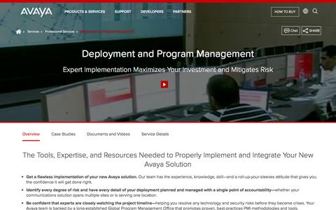 Deployment Services - Hardware and Software Deployment - Avaya USA