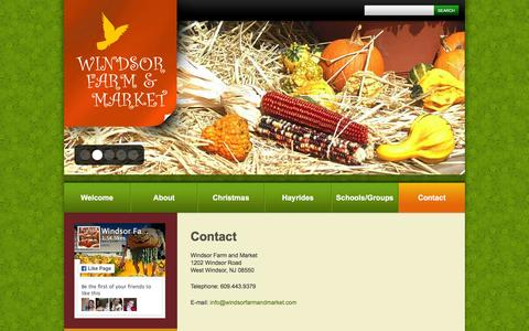 Screenshot of Contact Page windsorfarmandmarket.com - Contact  |  Windsor Farm & Market - captured March 16, 2016