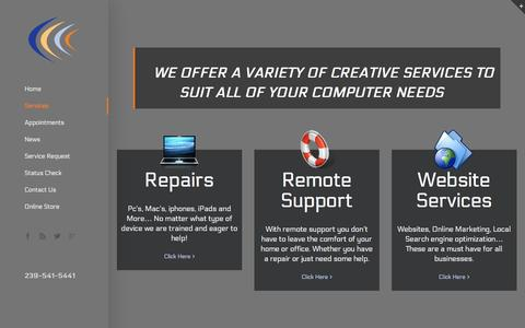 Screenshot of Services Page creativecomputersolutions.biz - Creative Computer Solutions -   Services - captured Dec. 12, 2015