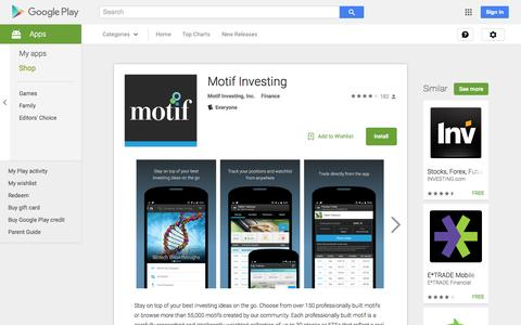 Screenshot of Android App Page google.com - Motif Investing - Android Apps on Google Play - captured Nov. 17, 2015