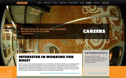Screenshot of Jobs Page rose.ru - Careers - captured Oct. 9, 2014