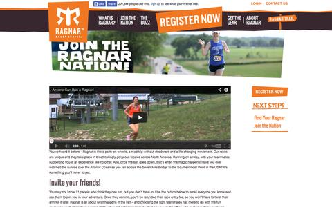 Screenshot of Signup Page ragnarrelay.com - Join the Ragnar Nation | Ragnar Relay Series - captured Sept. 24, 2014