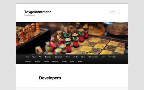 Screenshot of Developers Page tdvgoldentrader.com - Developers | Tdvgoldentrader - captured May 28, 2016