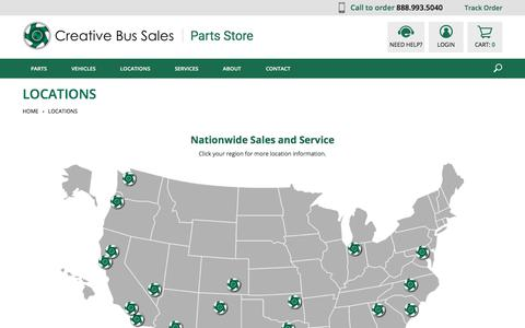 Screenshot of Locations Page nationalbussales.com - Locations - captured Sept. 20, 2018
