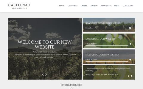 Screenshot of Home Page castelnau.co.uk - Castelnau Wine Agencies - captured July 16, 2017
