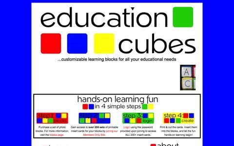 Screenshot of Terms Page educationcubes.com - Education Cubes - captured June 7, 2016