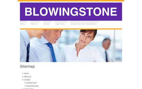 Screenshot of Site Map Page blowingstone.com - Blowingstone - Home - captured Oct. 6, 2018