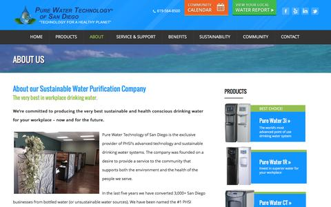Screenshot of About Page purewatertechsandiego.com - About Us - Pure Water Technology San DiegoPure Water Technology San Diego - captured Feb. 2, 2016