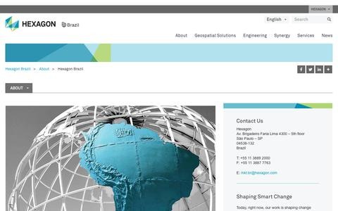 Screenshot of About Page hexagon.com.br - Hexagon Brazil - captured July 6, 2018