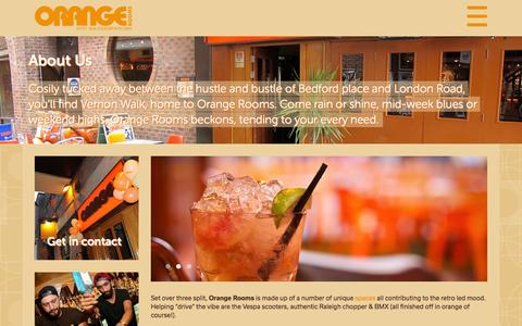 Screenshot of About Page orangerooms.co.uk - Orange Rooms Southampton | About Us - captured Feb. 22, 2016