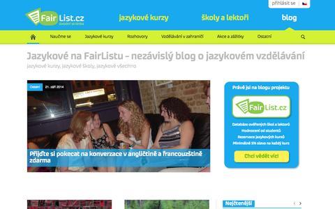 Screenshot of Blog fairlist.cz - Jazykové na FairListu   jazykový blog, jazykové kurzy, školy a lektoři - captured Oct. 5, 2014