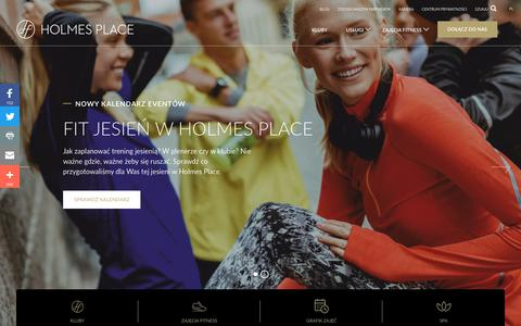 Screenshot of Team Page holmesplace.com - Holmes Place Poland   Fitness, Nutrition, Spa - captured Oct. 21, 2018