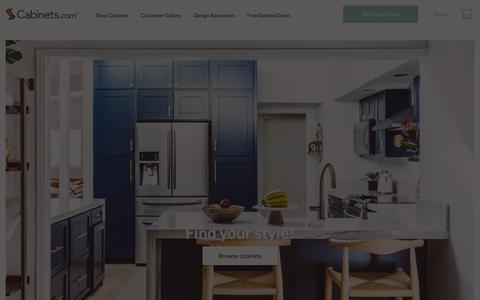 Screenshot of Home Page cabinets.com - Shop Online - Kitchen Cabinets - captured Aug. 17, 2018