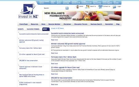 Screenshot of Press Page investinnz.co.nz - Invest In NZ News | Invest in NZ - captured Sept. 30, 2014