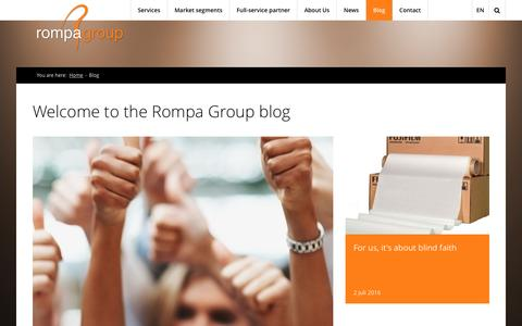Screenshot of Blog rompagroup.com - | The Rompa Group Blog - captured Aug. 15, 2016