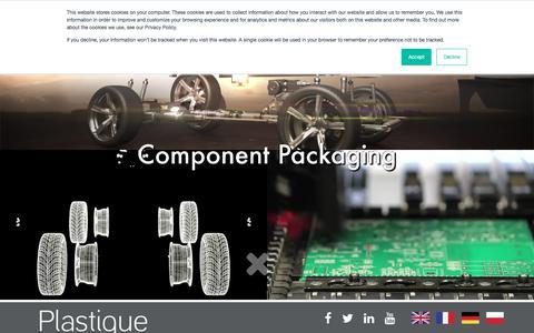 Screenshot of Home Page plastique.eu - Plastique | Thermoformed Plastic Packaging - captured July 18, 2018